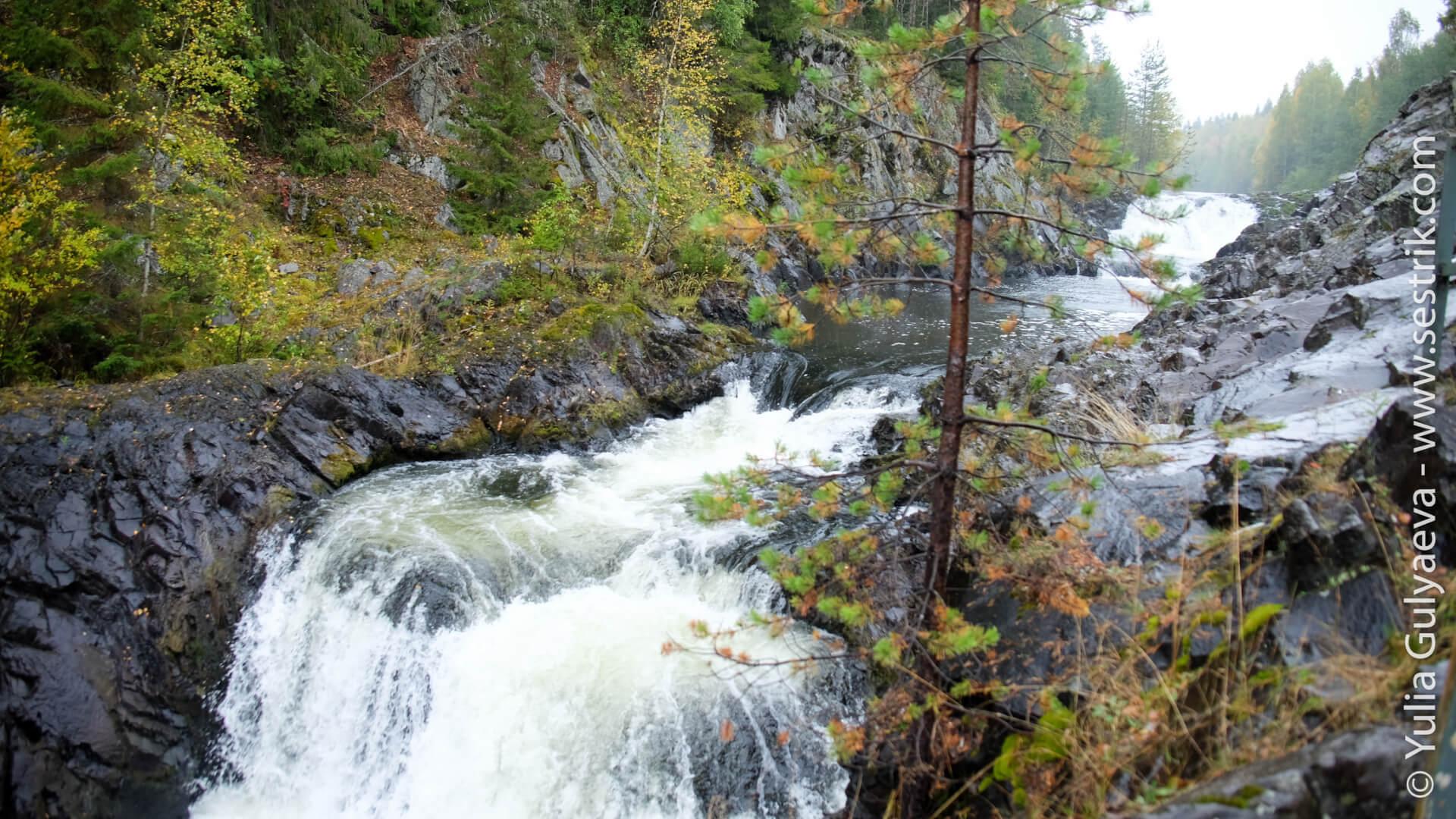 водопад кивач в заповеднике кивач