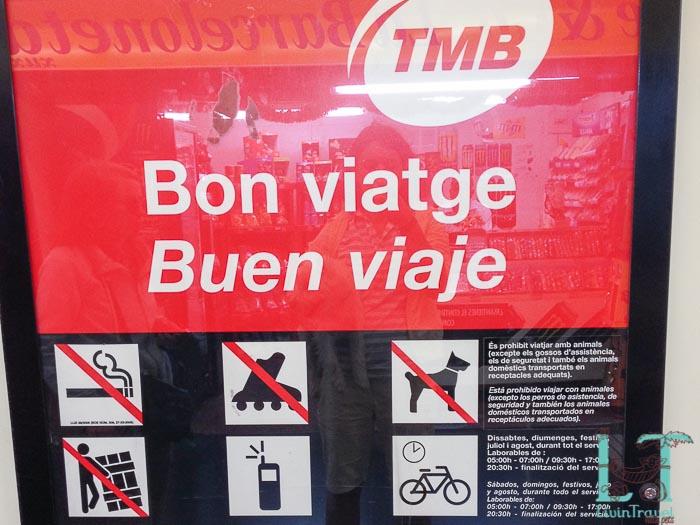 правила проезда в метро Барселоны