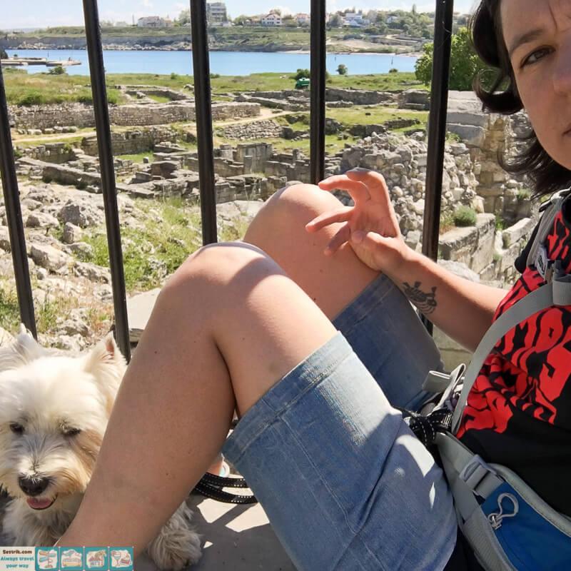 с собакой в Херсонес