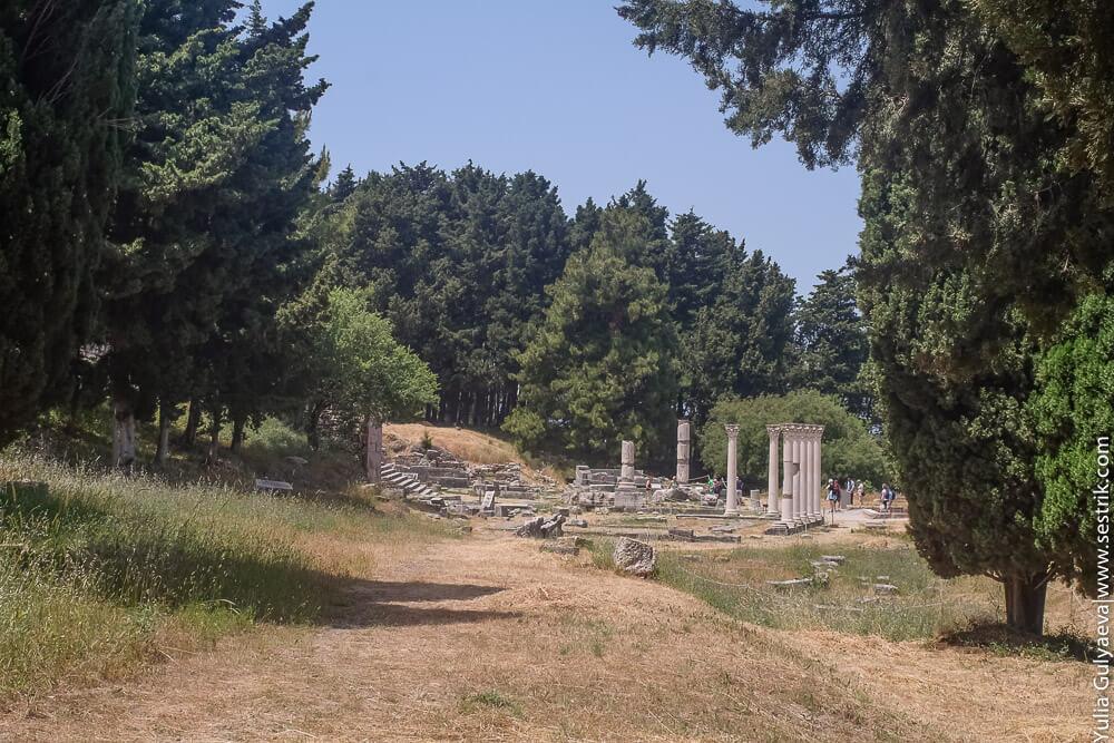 остатки асклепиона на греческом острове кос