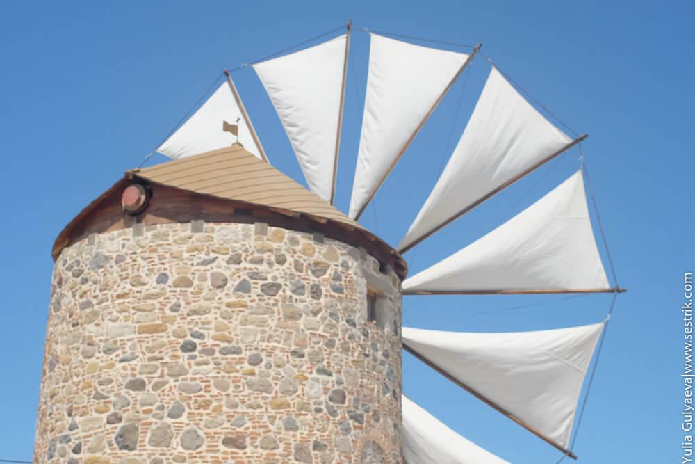 ветряная мельница на острове кос