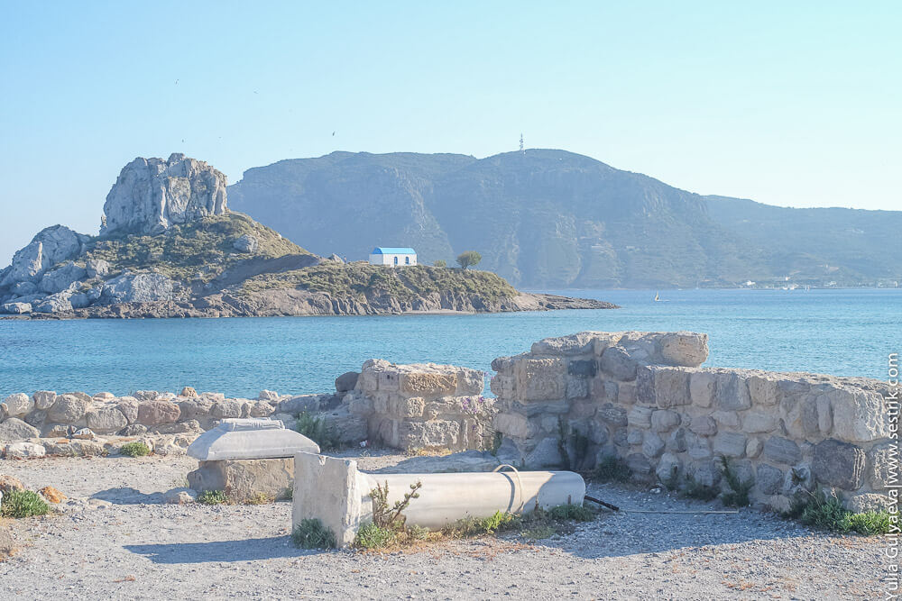 остатки базилики святого стефана на острове кос