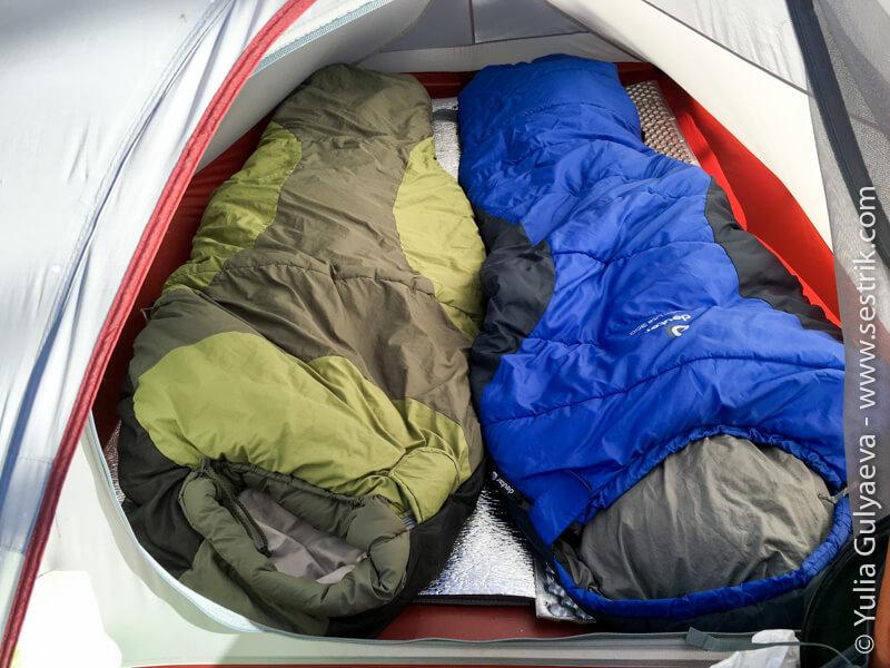 naturehike-вид внутри палатки