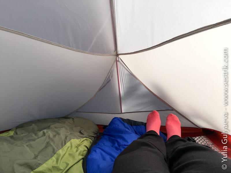 палатка naturehike внутри