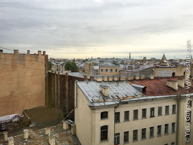 вид на крыши питера петроградской стороны