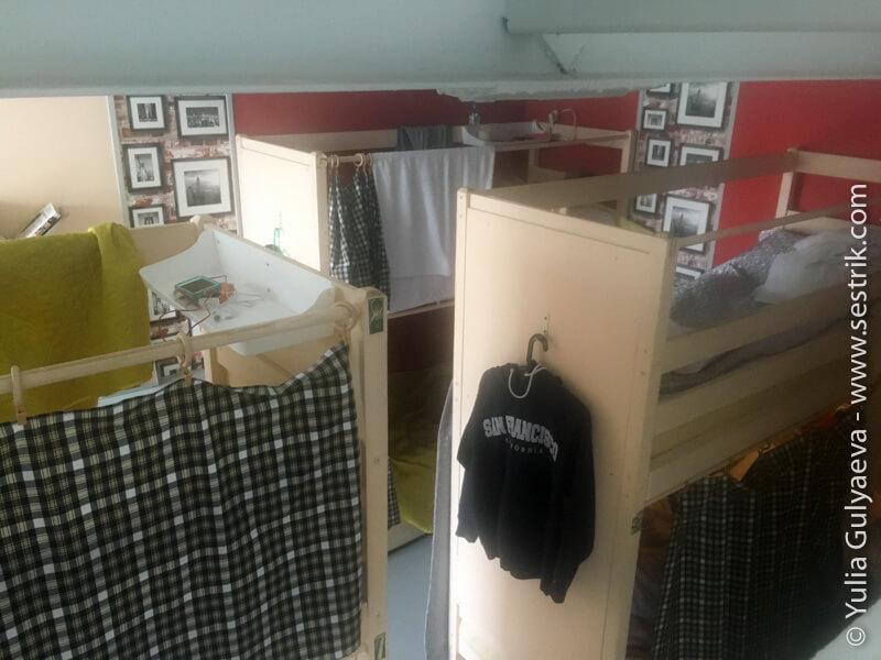 hostel-nebo-кровати в общей комнате