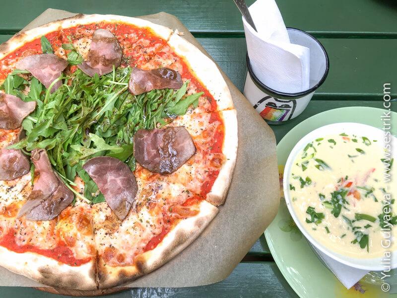 пицца и суп