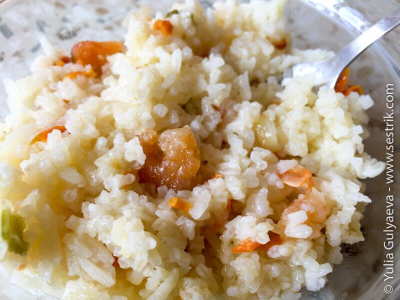 сублимированные креветки с рисом
