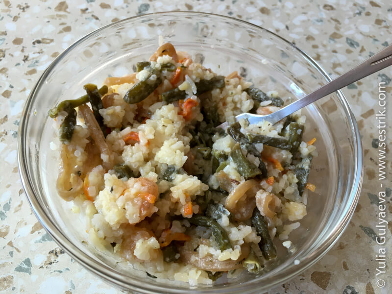 сублимированные кальмары с рисом