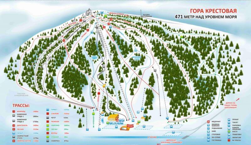 карта склонов курорта губаха