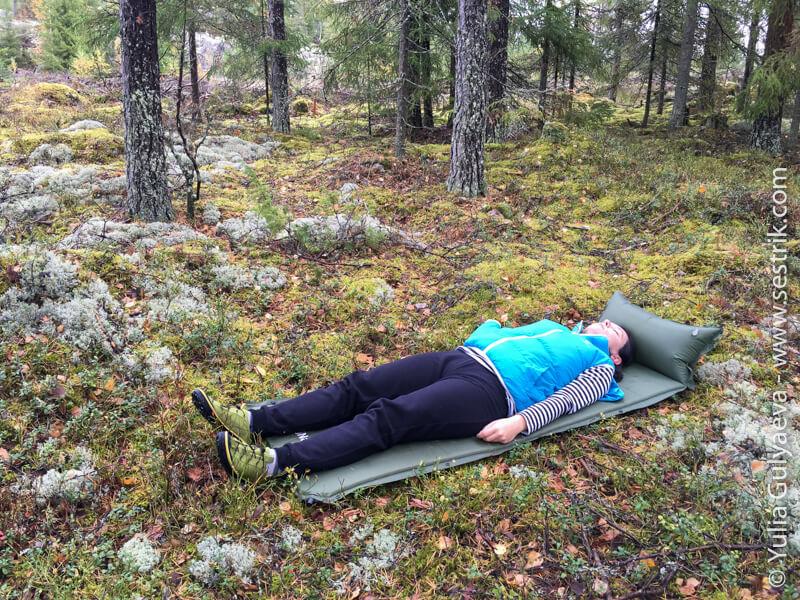 naturehike-коврик с подушкой