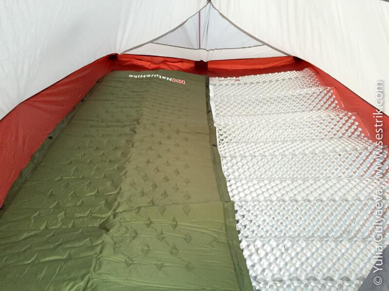 naturehike-коврик и палатка