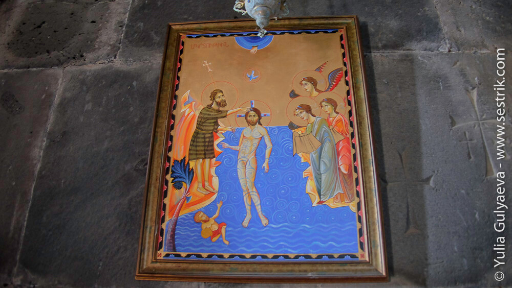 крещение христа икона в ахпат