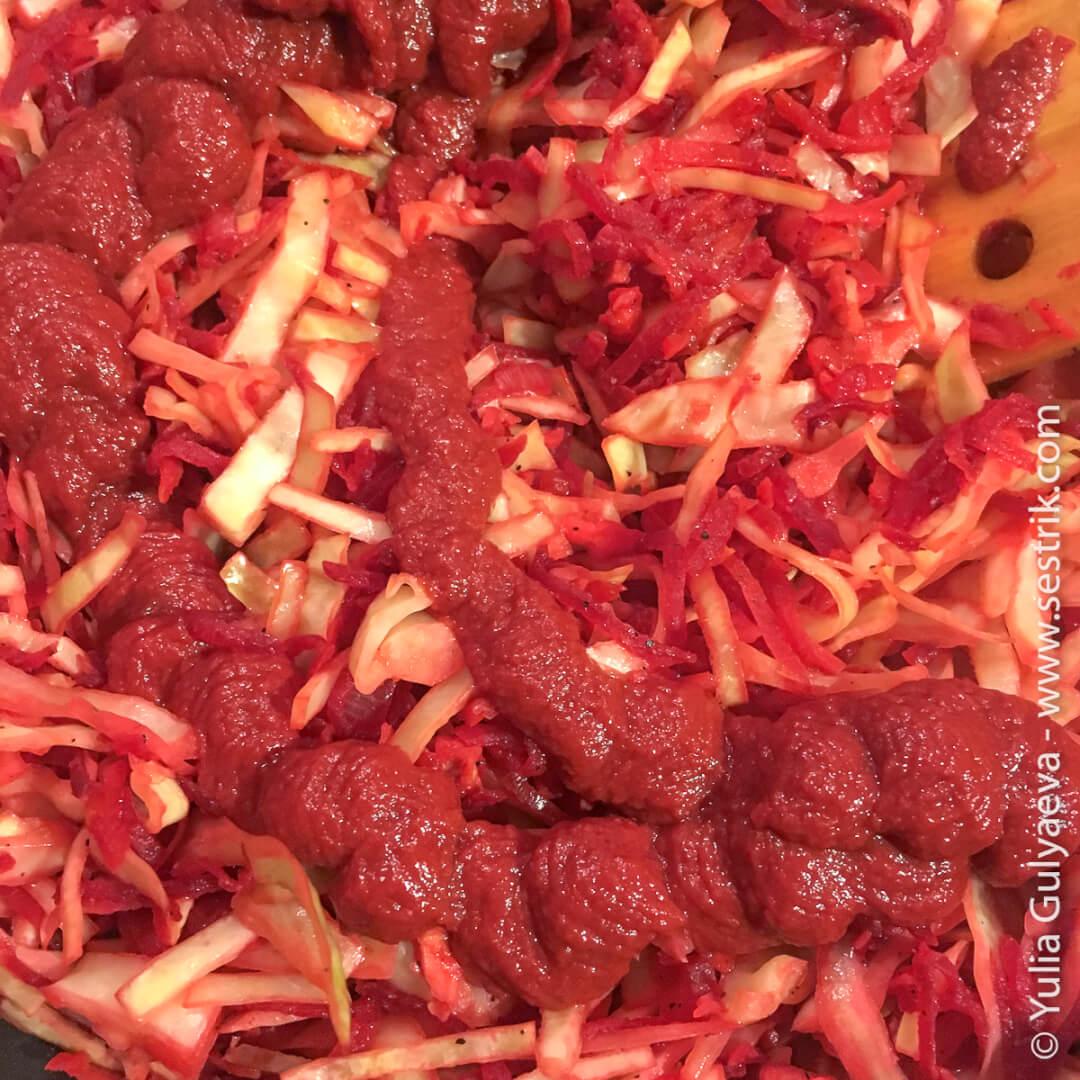 что нужно для борща томатная паста