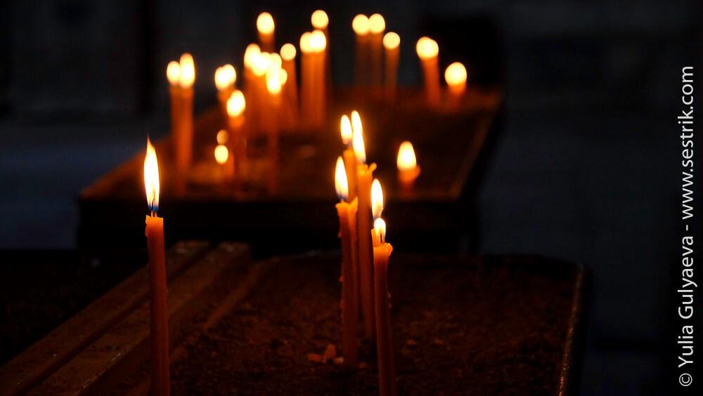 свечи в армянском храме