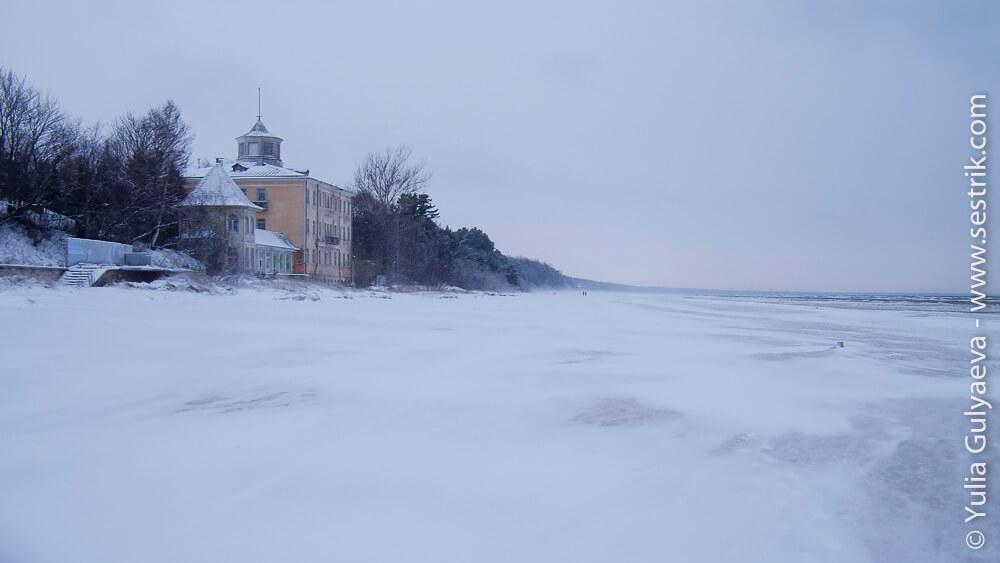 Балтийское море в Латвии зимой