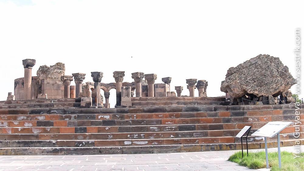 элинистический храм звартноц в армении