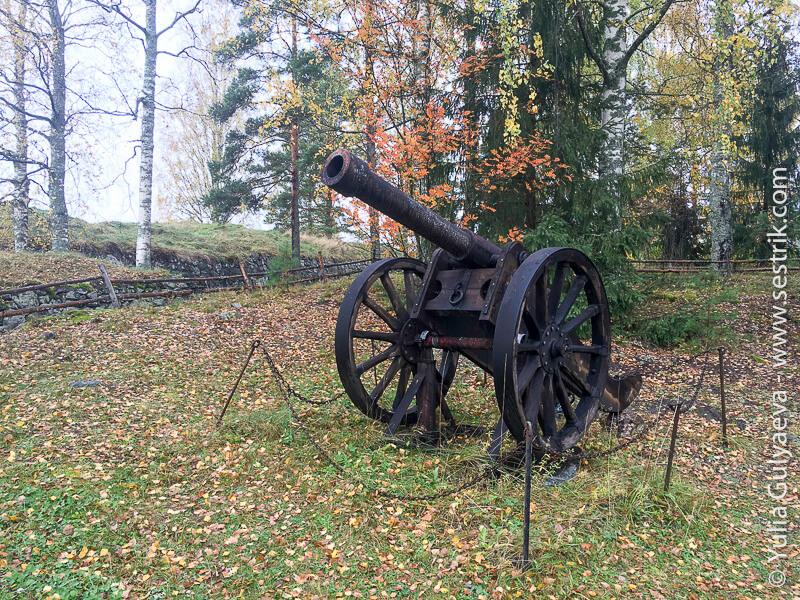 пушки Суворова у крепости Кярнакоски