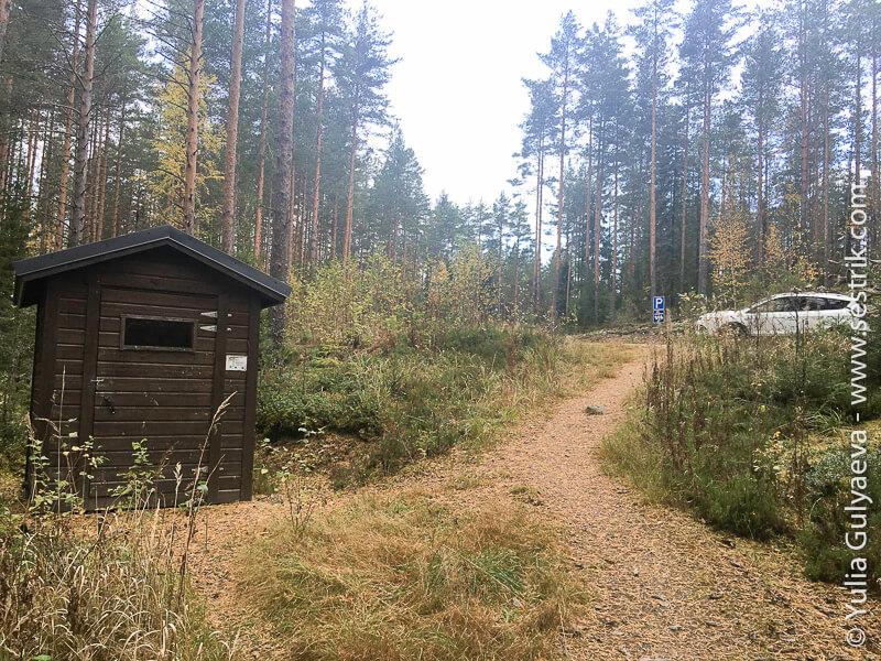 туалет у лааву в Финляндии