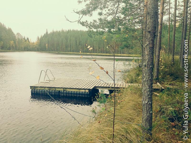 причал на озере Онкилампи