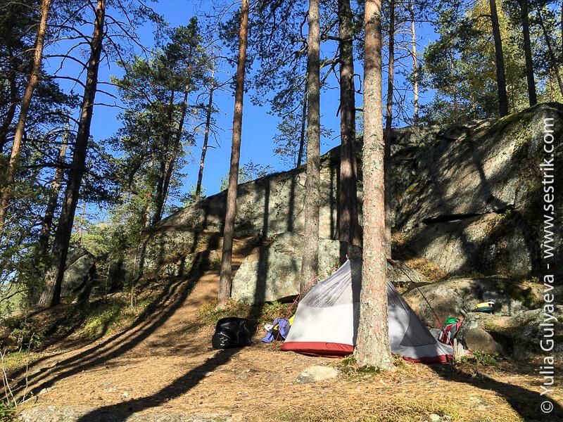 Repovesi-с палаткой в парк