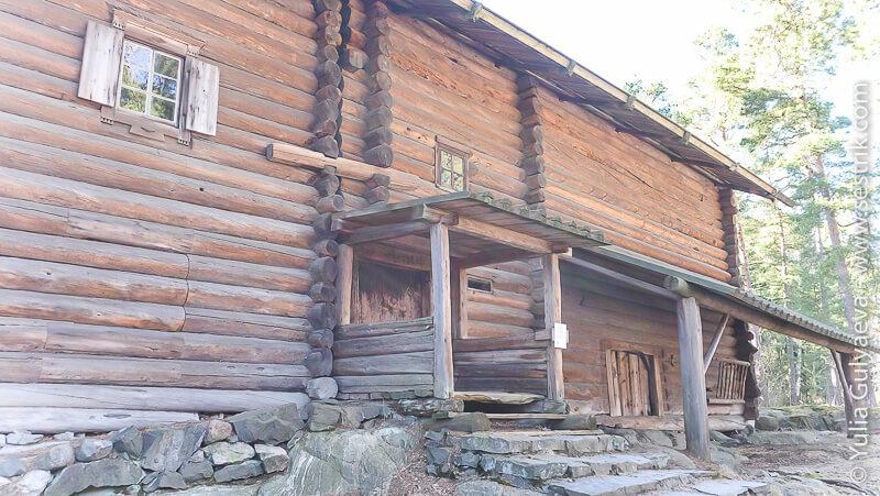 финская старая деревянная усадьба