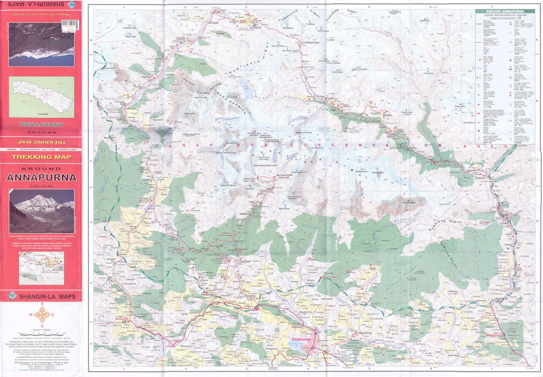 карта района Аннапурны