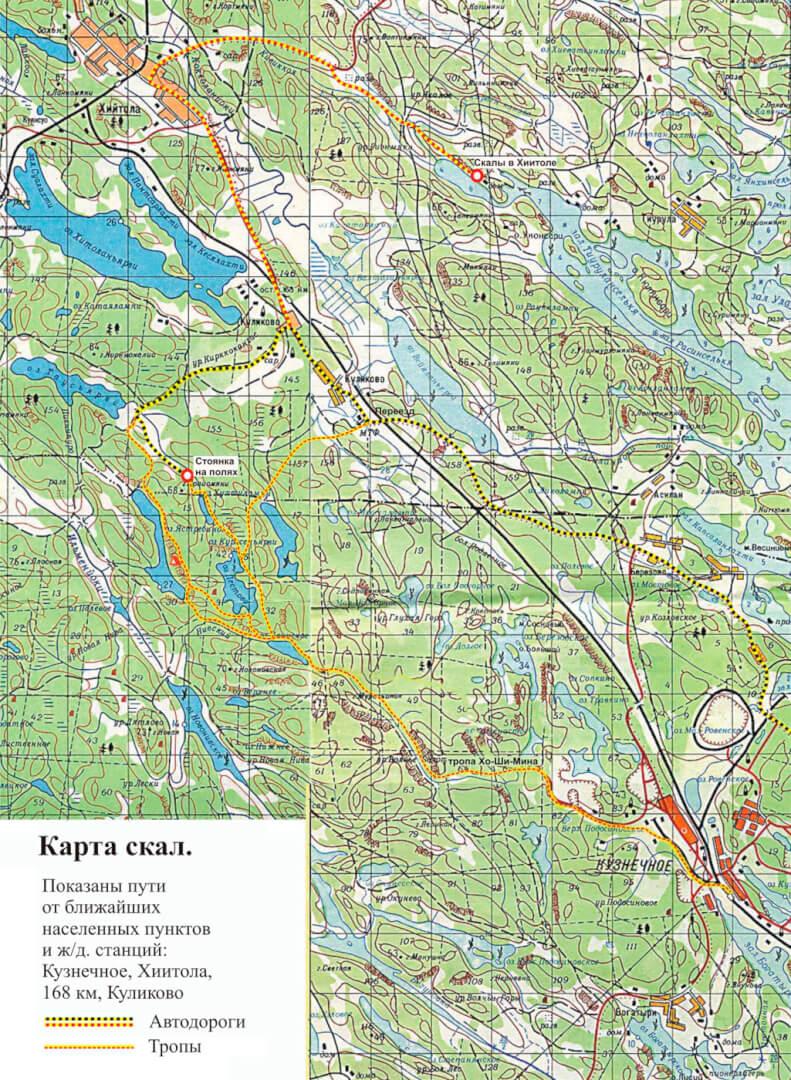 карта озера Ястребиное