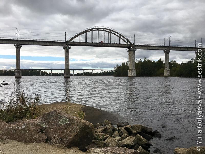 жд мост в Монрепо