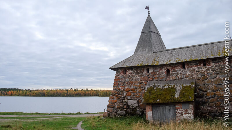башни монастыря на Соловках