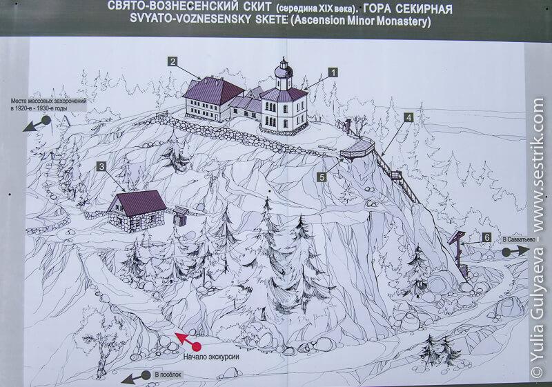 карта Секирной горы