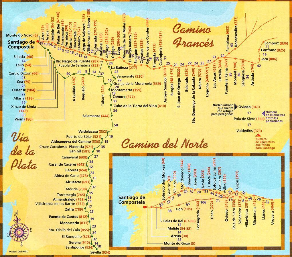 Северный путь Камино Сантьяго