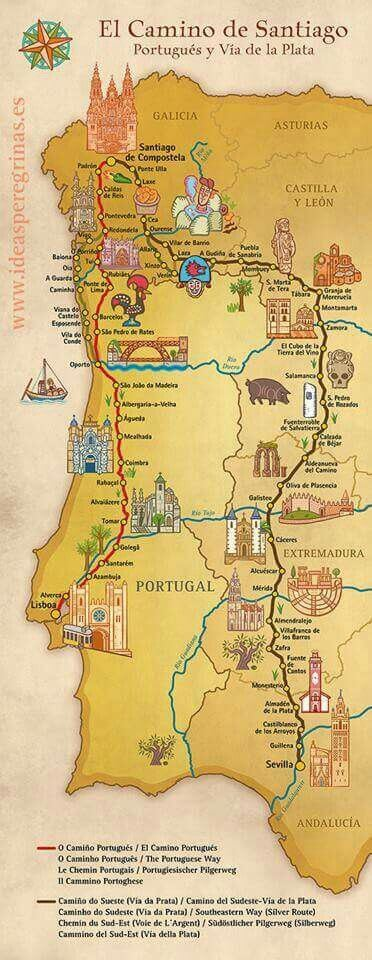 Португальский маршрут пути Сантьяго