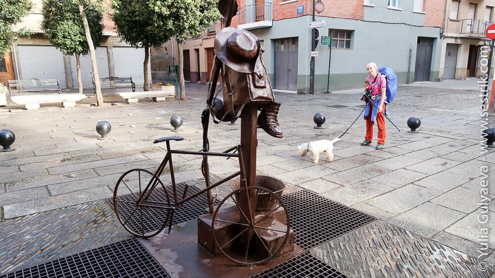памятник пилигриму на площади в санто доминго