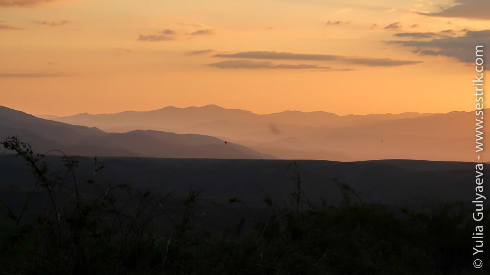 закат в Эль Асебо