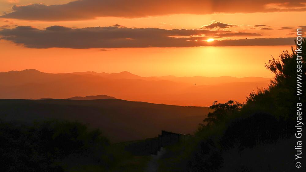 вечерний закат в Эль Асебо