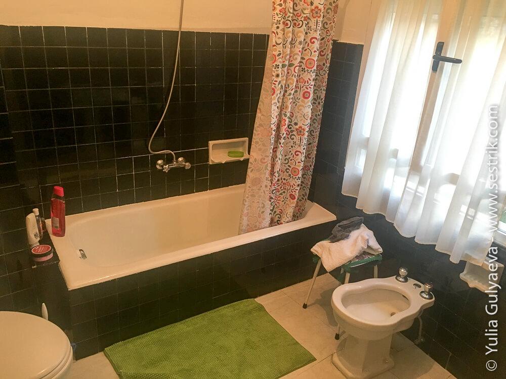 ванная комната в пансионе