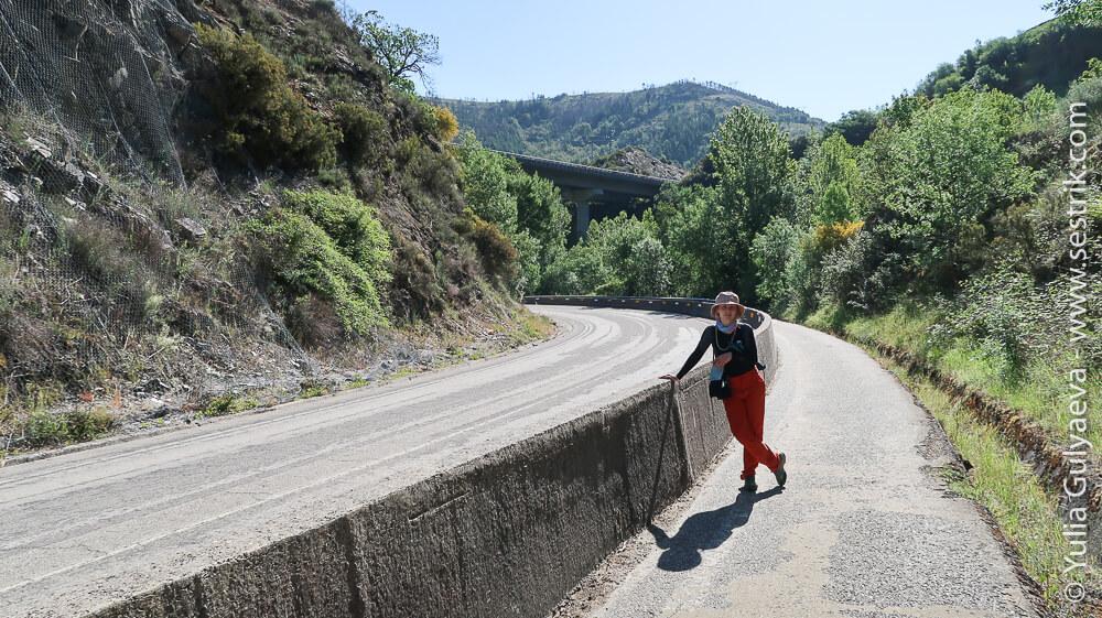 дорога вдоль трассы