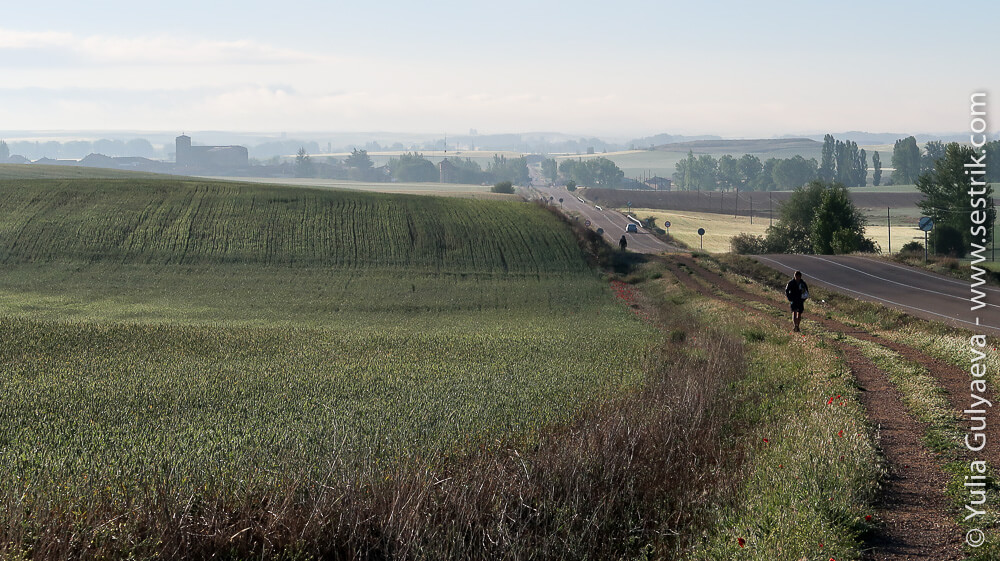 Camino-Frances-day-9 утро туманное