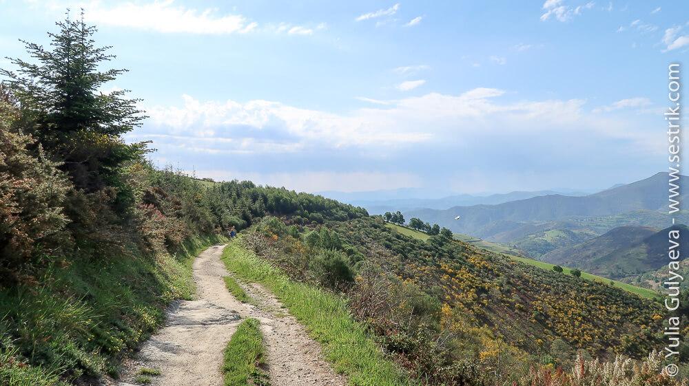дорога по Галисии вдоль гор