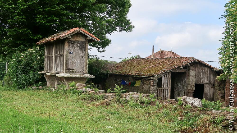Старое хранилище сарай орео horreo