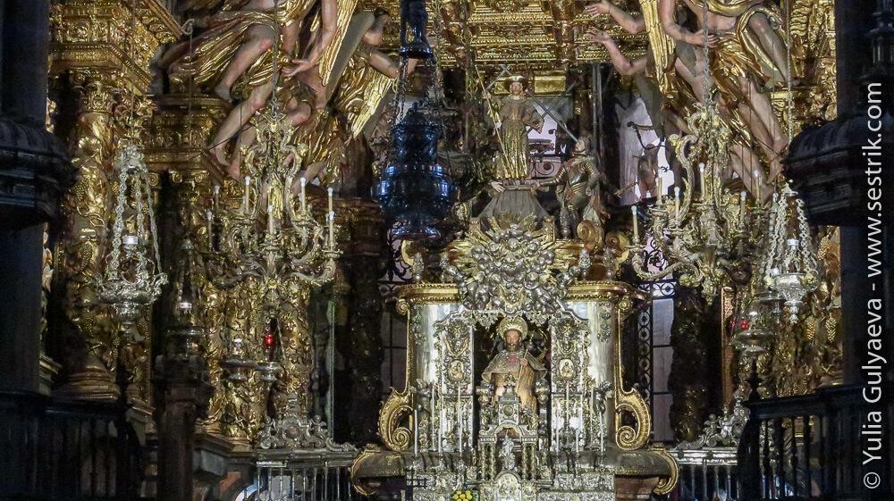 Украшения внутри собора Компостела