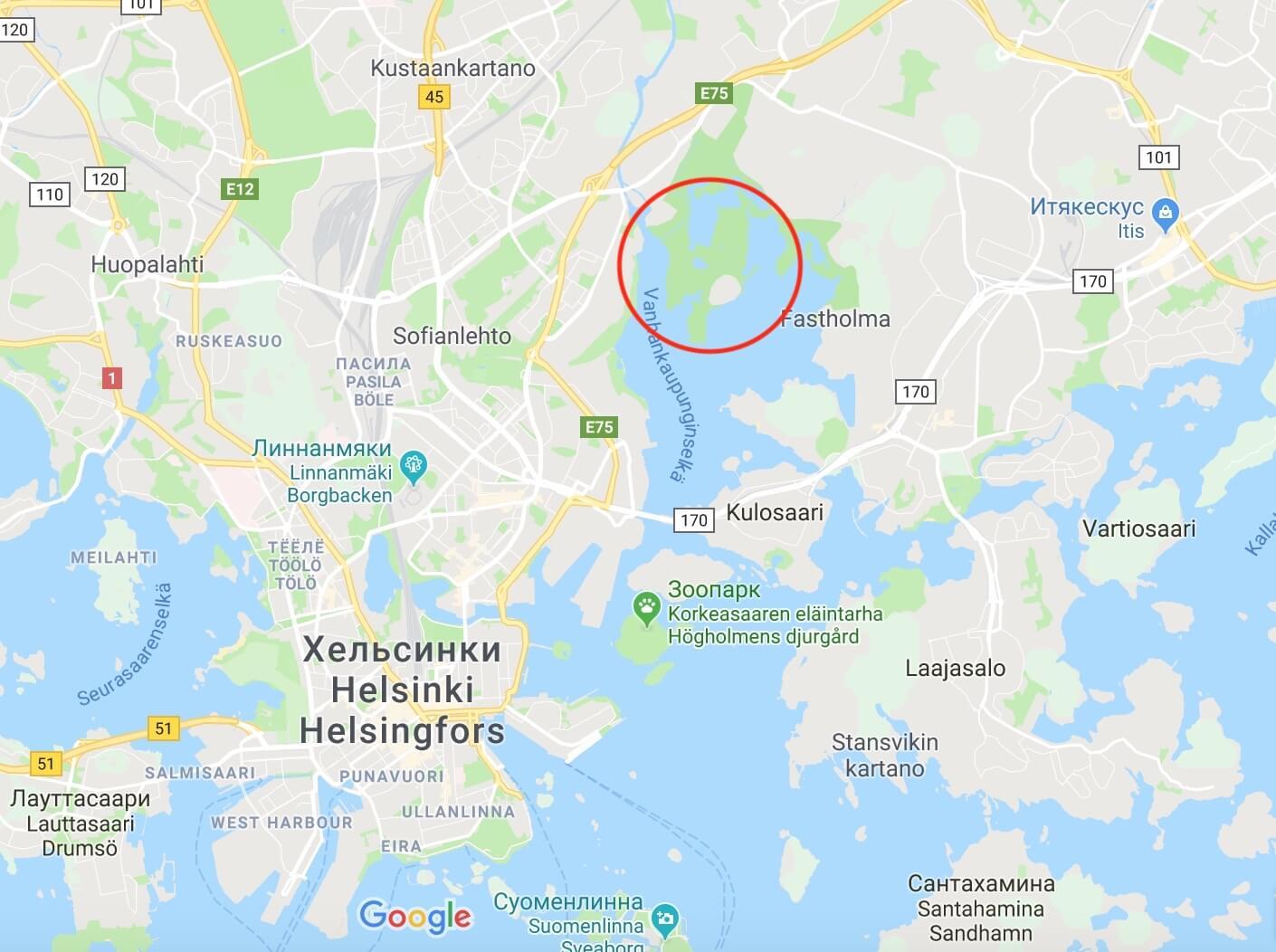 Болота рядом с Хельсинки