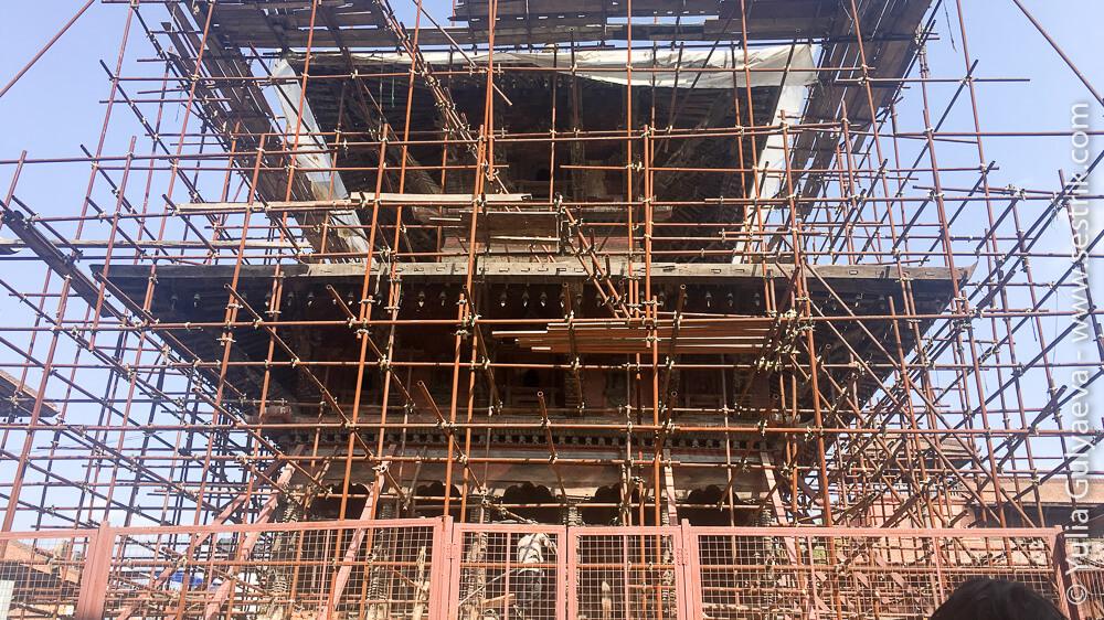 Реставрация площади Дурбар в Патане