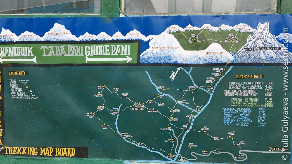 Карта в Тадапани