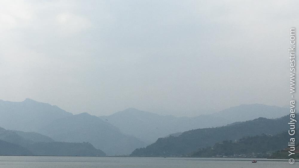 Парапланеризм на озере Фева