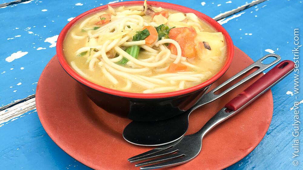 Тибетский суп тукпа в непале
