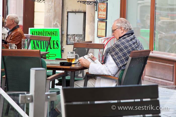 кафе в Центре Братиславы