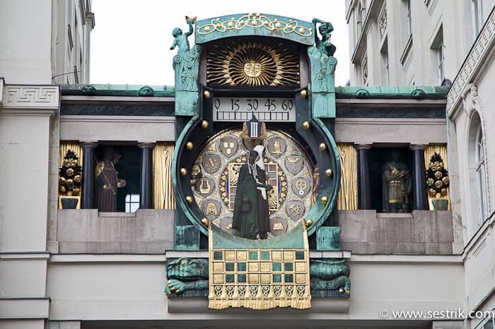 Якорные часы в Вене