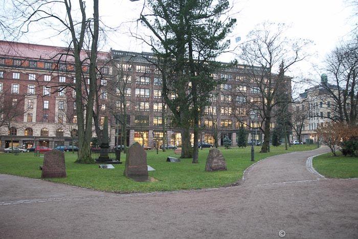 Сквер вокруг церкви Vanha Kirkko
